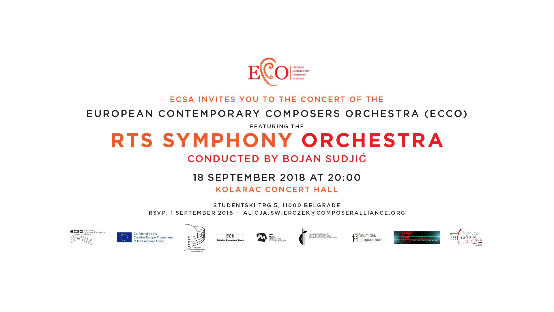 "Home » Events » The RTS Symphony Orchestra » RTS Symphony Orchestra – this  year s ""European Contemporary Composers Orchestra (ECCO)"" 195dc779ea"