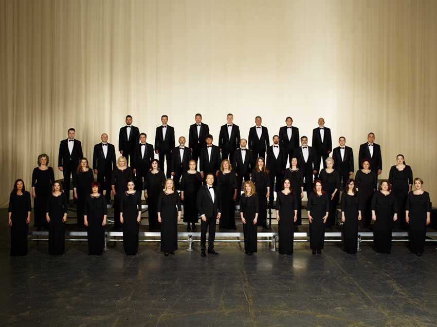 "THE RTS CHOIR PERFORMS IN THE ""VATROSLAV LISINSKI"" CONCERT HALL IN ZAGREB"